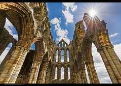 Whitby Abbey (Steve-P2010) Tags: abbey ruin whitby daytime intothesun whitbyabbey starburt