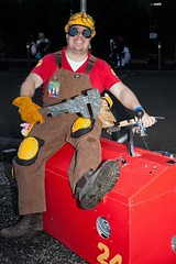 Armed with a Big Wrench (l plater) Tags: cosplay sydneyolympicpark theengineer teamfortress2 valvecorporation supanovaexposydney2016