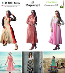 eid2 (sugnamallucknow) Tags: new blue girls black color green blog women indian traditional eid latest fashionista fashiondesi
