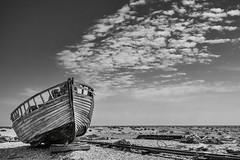 Old Boat (Mono2) (Roantrum) Tags: kent dungeness oldboat mf16 roantrum