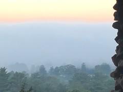 Smoky Mountain Sunrise (cliffordswoape) Tags: cloud color fog sunrise dawn asheville stonework northcarolina historic smokymountains groveparkinn