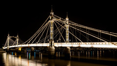 Albert Bridge London Nikon D610 (technodean2000) Tags: road uk bridge sky west reflection building london water thames architecture night river lights is nikon chelsea waterfront outdoor south albert north over bank structure infrastructure lit battersea connecting lightroom the d610