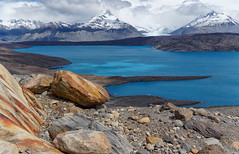 Lake Argentina magical colors (marko.erman) Tags: blue sky panorama lake mountains nature water argentina colors beautiful clouds landscape rocks view pov sony unesco worldheritagesite glaciers magical summits losglaciaresnationalpark