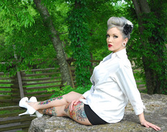 Robin Color 2 (Tony Aldridge) Tags: portrait sexy ink model nikon women vivid oldschool sensual d200 bodyart pinup glamor whiteshirt artisticphotography hotwomen artisticexpression nikond200 outdoorportrait pinupphotography glamorphotography outdoorglamour tennesseemodel womeninamansshirt womeninawhiteshirt tonyaldridge cierraandrobin