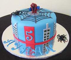 Spiderman Cake by Vanessa, Ellsworth, ME, www.birthdaycakes4free.com