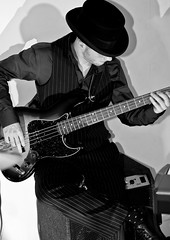 Bass Guitarist (occbass) Tags: bw hat cool bass guitar fender
