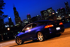 10 years later and this Acura is still turning heads... (carrie @nne) Tags: 2003 chicago skyline contest s 03 winner type acura nationalgeographic rsx arcticbluepearl rsxs