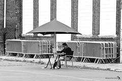 take shelter (japanese forms) Tags: street bw man cold monochrome rain umbrella blackwhite spring random laptop apocalypse streetphotography streetlife parasol agfa streetshot agfafilm takeshelter jeffnichols michaelshannon dreadfulweather strasenfotografie jessicachastain japaneseforms2013