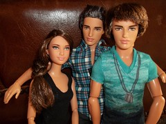 Three siblings!! (~EverFashionista216~) Tags: ryan barbie fashionistas katniss hungargames