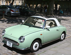 1991 NISSAN FIGARO 987cc TURBO CONVERTIBLE (shagracer) Tags: nissan open top figaro turbo 1991 987cc japanese retro looking car cars convertible coupe vehicle automobile classic breakfast club bristol square queen avenue meet adc drivers