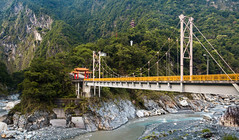 Connections of Taroko (efbrinkley) Tags: bridge mountain river landscape temple asia taiwan buddhism canyon valley gorge taroko oceanic