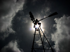 Windmill (D.Munoz-Santos) Tags: life above summer sun color nature windmill silhouette clouds dark outdoors mood alone moody watching lensflare isolation protection lowsaturation dmunozsantos
