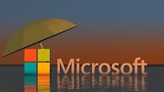 Microsoft Logo - Beach Sunset