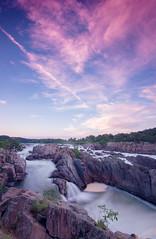 Great Falls in purple
