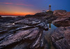 Beavertail Lighthouse (chris lazzery) Tags: sunset lighthouse seascape reflection rhodeisland jamestown beavertailstatepark beavertaillighthouse canonef14mmf28lii 5dmarkii