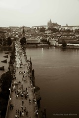 (rockchick417) Tags: city travel bridge castle lights twilight europe cityscape prague praha praga czechrepublic charlesbridge karluvmost praguecastle