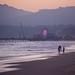 Santa Monica Pier & Beach at Magic Hour - California