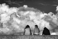 Memories in the making No. 3 : Freedom from parents! (Fly bye!) Tags: girls summer sky cloud holiday stone wall cornwall harbour teenagers cumulus stives harbourwall