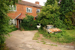 House with cars in the foliage (decampos) Tags: old ford cortina neglect junk rust classiccar oldtimer