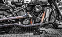 Rat bike (Descended from Ding the Devil) Tags: portugal beer photoshop july motorbike harleydavidson algarve hdr ratbike lightroom wwh loul photomatix sigma1020 2013 bwhdr