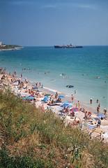 Costinesti (Patrasciuc Roxana) Tags: film beach fuji superia shipwreck 200 romania blacksea smena smena8 costinesti epava