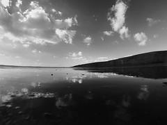 Beach (Catherine Amanda) Tags: sea cliff sun reflection beach southwales clouds bluesky gopro hero3