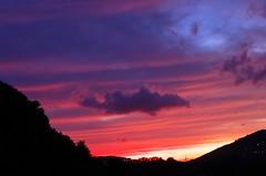 sunset colors #3 (ΞSSΞ®®Ξ) Tags: blue light sunset red sky italy colors night landscape mood purple pentax cloudy silhouettes lazio k5 ξssξ®®ξ