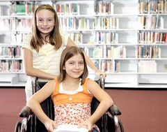 Lanier Law Firm Toronto (Samantha Recherd1) Tags: school cute girl notebook happy reading book student education friend pretty friendship braces library wheelchair young medical attitude study teen help research disabled roll positive bookshelves adolescent shelves elementary textbook confident middleschool handicapped intelligent literacy caucasian lanierlawfirmtorontocom