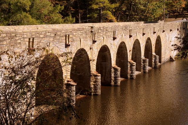Cumberland Mountain State Park Stone Arch Bridge View #6