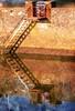 Stairs come complete with own lifebelt (por2able) Tags: sailsevenseas t189metalstaircasequaytopshamexeestuarydevontexturedartbychrysti