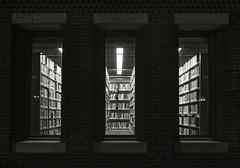 Three Library Windows (frntprchprss) Tags: windows blackandwhite library smithcollege jamesgehrt