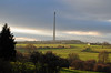 Hazy days in Emley (littlestschnauzer) Tags: uk trees winter sky west green tower field rural landscape countryside haze nikon soft december glow yorkshire landmark aerial farmland structure elements fields late pastures tall mast hazy moor transmitter emley afteroon 2013 d5000