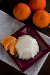 Orange Coconut Sticky Rice-3 (PowerStephy) Tags: orange recipe dessert milk rice coconut sticky cream mango thai orangethaicoconutstickyrice