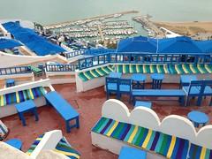 Sidi Bou Said, Tunis (vanya.bovajo) Tags: voyage africa travel sea bar cafe view tunis afrique mygearandme