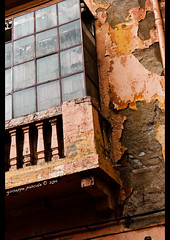 exposed (giuseppe pascale) Tags: travel red urban white black window glass yellow stone architecture facade concrete grey iron colours balcony pipe line morocco marrakesh exposed gpfoto sigma1770 nikond40 giuseppepascale giuseppepascalephotography
