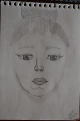 """Premier essai visage (""""La Petite Franaise"""") Tags: arts dessin crayon papier premier essai visage ralisme entier appliqus"""