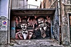 Graffiti (7) (Marco Trovò) Tags: italy graffiti italia milano case canon5d murales lombardia hdr laurelhardy palazzi biciclette zonatortona viasavona stanlioeolio marcotrovò marcotrovo