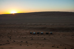 SUVs parked in the desert - Wahiba Sands, Oman (mastahanky) Tags: desert sands oman wahiba