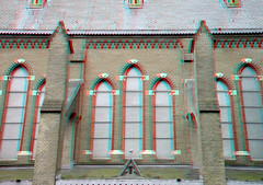Bonaventurakerk Woerden 3D (wim hoppenbrouwers) Tags: 3d anaglyph stereo neogothic woerden redcyan stereopicture anaglyf bonaventurakerk nicolaasmolenaar vision:text=0848 vision:outdoor=0964 bonaventurakerkwoerden3d neogotischekruiskerk1890 woerden3d