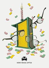Herr Menig Optik - Birthday (Philipp Zurmoehle) Tags: illustration pencil glasses drawing ad drawings advertisement brille nürnberg optician brillen zeichnung optik optiker philippzurmöhle philippzurmohle philippzurmoehle herrmenig