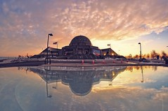 Adler Planetarium, Chicago (Explored!) (Seth Oliver Photographic Art) Tags: chicago illinois nikon pinoy d90 setholiver1 rokinon8mm35fisheyelens