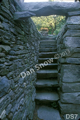 WM Dan Snow Stoneworks 7, Hanging Garden Stairway, steps, dry laid stone construction, copyright 2014