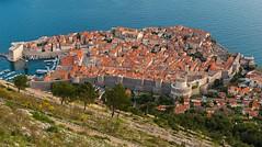 Dubrovnik from Above (Kyle Pozan) Tags: city blue sea stone wall coast ancient nikon europe unesco hillside dubrovnik dalmatian oldcity adriatic d800 dalmatia