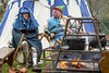 [2014-04-20@11.51.28a] (Untempered Photography) Tags: history cooking kitchen fire costume smoke medieval knight armour cauldron reenactment livinghistory canonef50mmf14 perioddress platearmour gambeson paviliontent untemperedeye canoneos5dmkiii untemperedeyephotography glastonburymedievalfayre2014