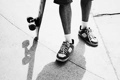 Sk8er Boi. (Luana Vasques Martins) Tags: boy brazil blackandwhite bw white man black guy branco brasil contrast photography photo cool nice shoes different foto random song sopaulo board skating preto skate skateboard brazilian skater fotografia myphoto pretoebranco peb sk8er avrillavigne mypost skatista sk8erboi
