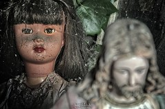 let the guilt go (Szydlak Szk) Tags: old urban abandoned dark toy doll christ belgium jesus eerie creepy spooky forgotten urbanexploration horror attic exploration derelict puppe jezus urbex lalka stara szk zabawka creepey verlassene opuszczona szydlak