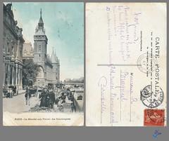 PARIS - Le Marche aux Fleurs - La Conciergerie (bDom) Tags: paris 1900 oldpostcard cartepostale bdom