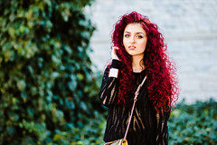 black&gold (5) (Rania Kelesidou) Tags: red black look leather fashion hair bag outfit shoes watch style redhead mango shorts zara michaelkors