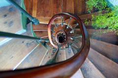 Old Stairs In Paris (Dious) Tags: wood old paris architecture stairs canon plante escalier marche bois 500d architec