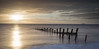 Spurn Head (Draws_With_Light) Tags: winter sea beach water sunrise season landscape seaside structures places scene coastline filters groynes spurnhead lee09ndhardgrad leelittlestopper